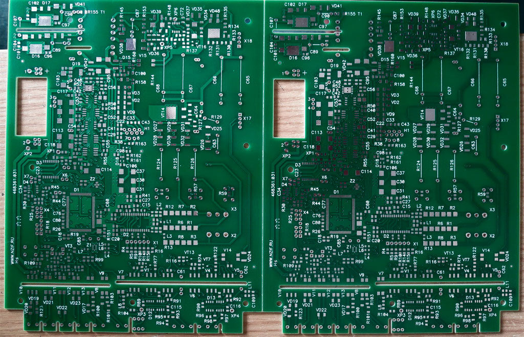 Production of printed circuit boards (PCB)