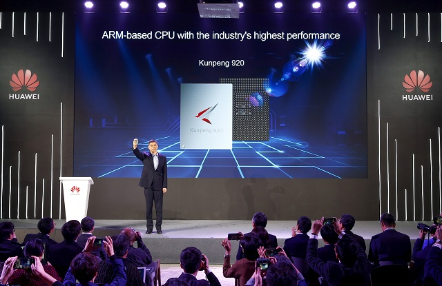 Xu Wenwei, Director of Huawei and President of Strategic Marketing, released Huawei Kunpeng 920, the industry's highest performance ARM-based processor.